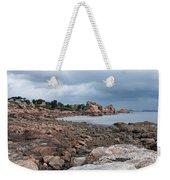 The Pink Granite Coast Brittany Weekender Tote Bag