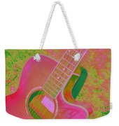 My Pink Guitar Pop Art Weekender Tote Bag