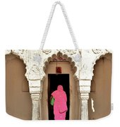 The Pink Sari Weekender Tote Bag