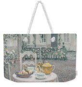 The Pink Tablecloth Weekender Tote Bag by Henri Eugene Augustin Le Sidaner