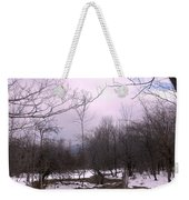 The Pink Winter Light On The Mountain Top Weekender Tote Bag