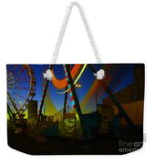 The Pirate Ship And Big Wheel  Weekender Tote Bag