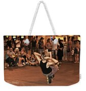 The Plaza At Night - Madrid Weekender Tote Bag