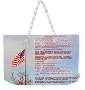 The Pledge Weekender Tote Bag