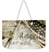 The Pledge Of Allegiance And An Weekender Tote Bag