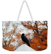 Crow Found The Perfect Pyramid Point Weekender Tote Bag