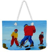 The Pond Hockey Game Weekender Tote Bag