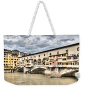 The Ponte Vecchio In Florence Weekender Tote Bag