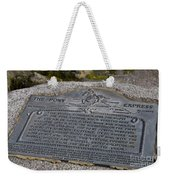 The Pony Express Marker Weekender Tote Bag