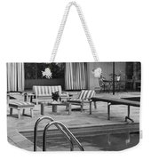 The Pool And Pavilion Of A House Weekender Tote Bag