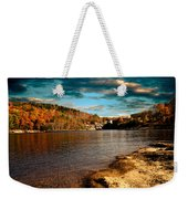 The Pool Below Upper Falls Rumford Maine Weekender Tote Bag by Bob Orsillo