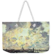 The Port Weekender Tote Bag by Eugene Louis Boudin