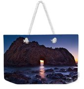 The Portal - Sunset On Arch Rock In Pfeiffer Beach Big Sur In California. Weekender Tote Bag by Jamie Pham