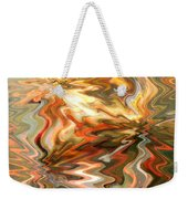 Gray And Orange Peaceful Abstract Art Weekender Tote Bag
