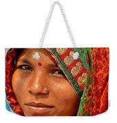 The Pride Of Indian Womenhood Weekender Tote Bag by Kim Bemis