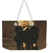 The Princes Edward And Richard Weekender Tote Bag by Sir John Everett Millais