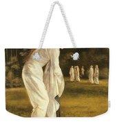 The Princess Tied To A Tree Weekender Tote Bag by Sir Edward Coley Burne-Jones