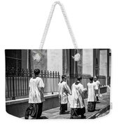 The Procession - Black And White Weekender Tote Bag