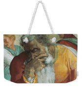 The Prophet Jeremiah Weekender Tote Bag by Michelangelo