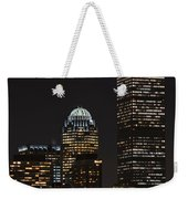 The Prudential Lit Up In Red White And Blue Weekender Tote Bag