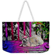 The Psychedelic Cat Weekender Tote Bag