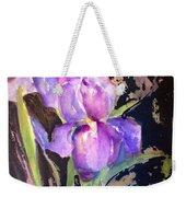 The Purple Iris Weekender Tote Bag
