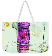 The Purple Medicine Bottle Weekender Tote Bag