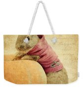 The Rabbit And The Pumpkin Weekender Tote Bag