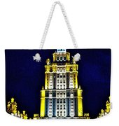The Raddison-stalin's Wedding Cake Architecture-in Moscow-russia Weekender Tote Bag