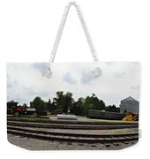 The Railroad From The Series View Of An Old Railroad Weekender Tote Bag