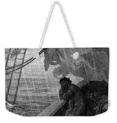 The Rain Begins To Fall Weekender Tote Bag by Gustave Dore