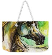 The Rainbow Colored Arabian Horse Weekender Tote Bag
