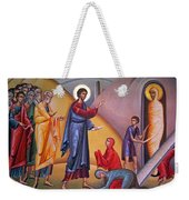the raising of Lazarus from the dead Weekender Tote Bag
