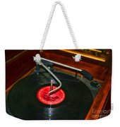 The Record Player Weekender Tote Bag