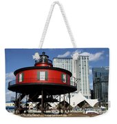 The Red Beacon From Baltimore Harbor Weekender Tote Bag