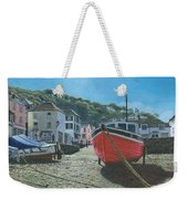 The Red Boat Polperro Corwall Weekender Tote Bag