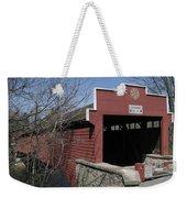 The Red Bridge Or Wertz's Cover Bridge Weekender Tote Bag