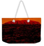 The Red Center D Weekender Tote Bag
