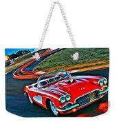 The Red Corvette Weekender Tote Bag