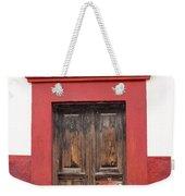 The Red Door Weekender Tote Bag
