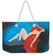 The Red Feather Boa Weekender Tote Bag