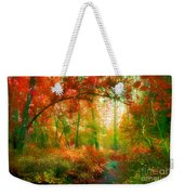 The Red Forest Weekender Tote Bag
