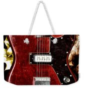 The Red Guitar Blues Weekender Tote Bag by Bill Cannon