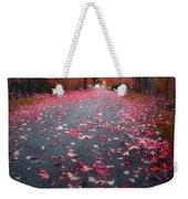 The Red Leaf Weekender Tote Bag