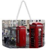 The Red Phone Booth Weekender Tote Bag