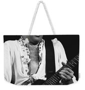 The Red Rocker In Black And White Weekender Tote Bag