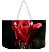 The Red Rode Bud Weekender Tote Bag by Robert Bales