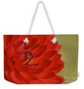 The Red Sun Dahlia Weekender Tote Bag