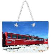 The Red Train Weekender Tote Bag