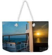 The Reflection Of A Crossing Gold To Blue Weekender Tote Bag